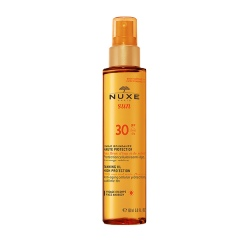 NUXE Sun Tanning Oil Face & Body SPF 30 Pump action bottle 150ml
