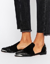 ASOS - MONACO - Chaussures plates style western - Noir