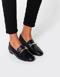 ASOS - MOVEMENT - Mocassins en cuir - Noir