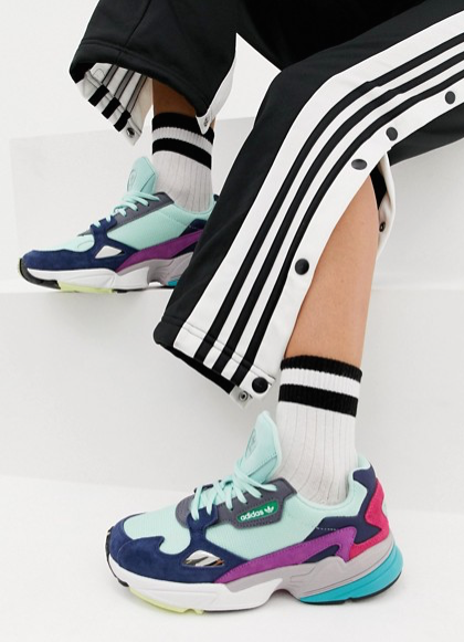adidas Originals - Falcon - Baskets - Menthe multicolore