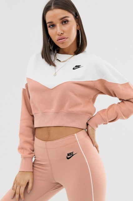 Nike - Heritage - Sweat-shirt - Or rose