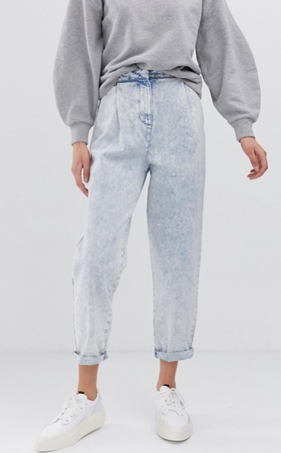ASOS DESIGN - Jean boyfriend fuselé avec coutures arrondies - Délavage à l'acide