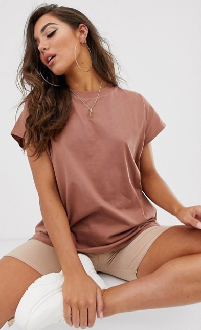 ASOS Design - T-shirt sans manches oversize - Marron