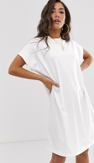ASOS DESIGN - Robe t-shirt à grandes manches