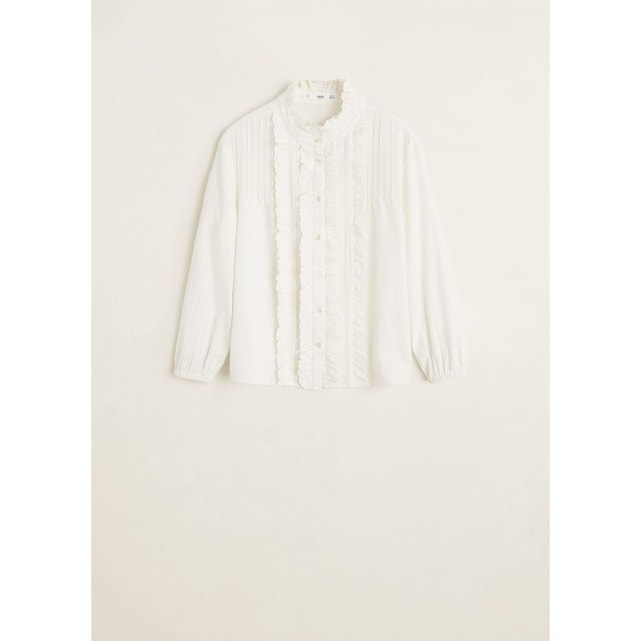 Blouse coton à volants