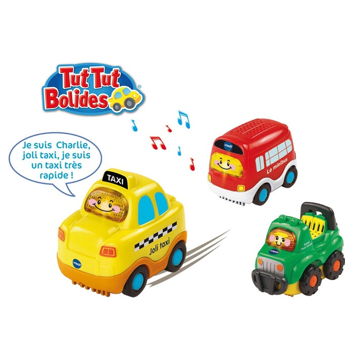 Tut Tut Bolides Coffret trio City