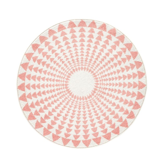 Tapis rond enfant Teed motif triangles